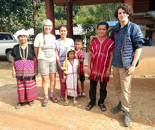 Hill tribe family during home stay