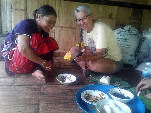 Lunch in Karen village Doi Inthanon National Park Thailand