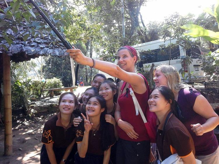 Selfie with Thai school girls