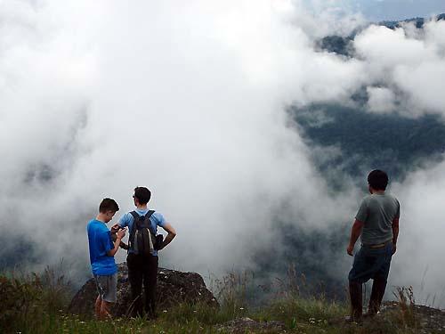 Summit of Doi Inthanon Thailand during trek