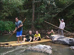 Bambaoo rafting Thailand