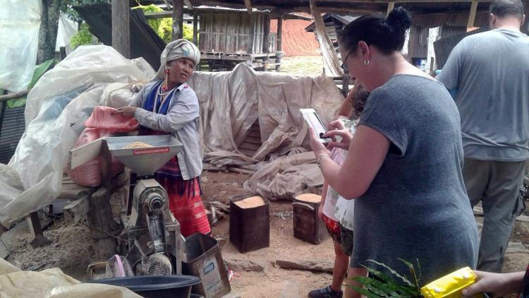 Karen hill tribe rice mill