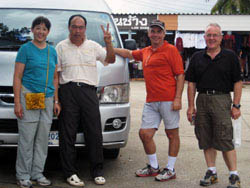 Our driver and van with birders at Doi Inthanon