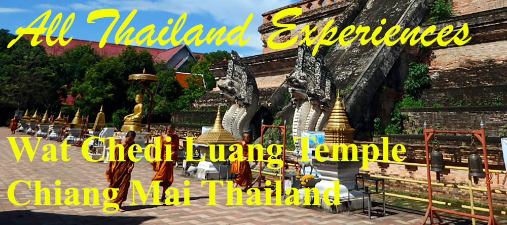Wat Chedi Luang temple Chiang Mai Thailand