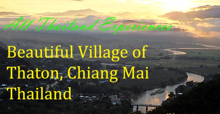 Beautiful village of Thaton, Chiang Mai Province in North Thailand