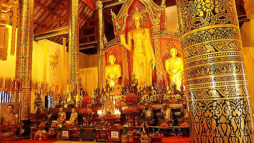 Inside Wat Chedi Luang Chiang Mai Thailand