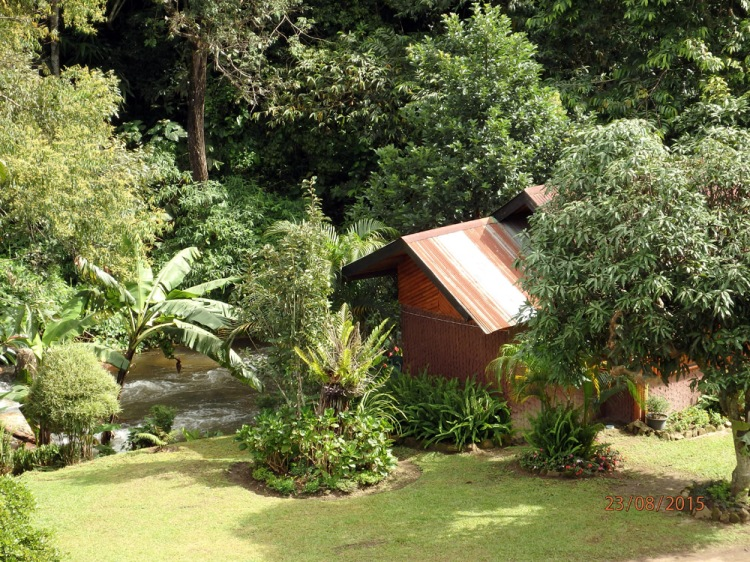 Stream side bungalow at Doi Inthanon National Park Thailand