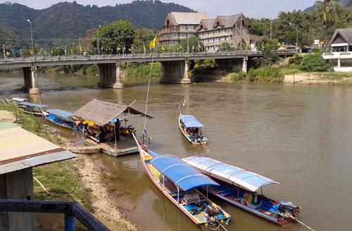 Boat Landing in Thaton Thailand