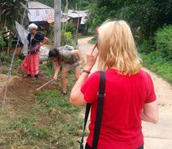 Helping Karen hill tribe lady