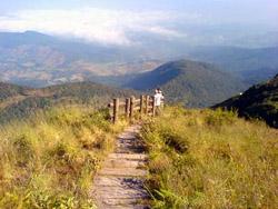 Trekking on the highest mountain in Thailand