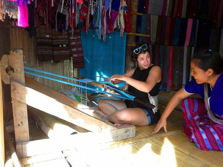 Learning Weaving In Village