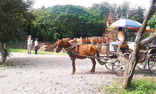Horse and buggy at Wiang Kum Kam Chiang Mai Thailand