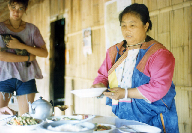 Dinner at guest home in a Lisu hill tribe village.