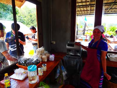 Coffee and waffle shop at Doi Inthanon National Park